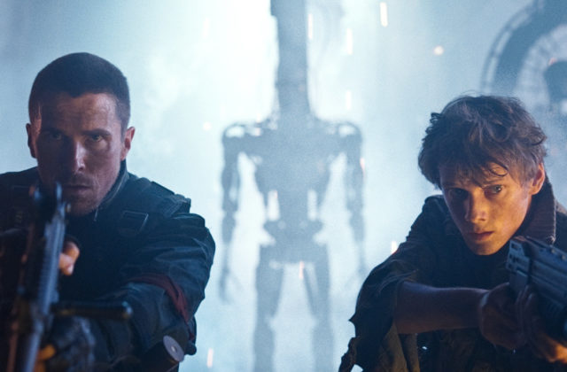 chistian bale v filmu terminator: odrešitev (terminator salvation)