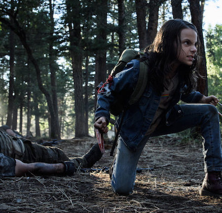 Dafne Keen v filmu Logan: Wolverine.
