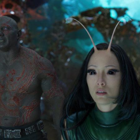 Mantis in Drax v filmu Varuhi galaksije 2. dejanje