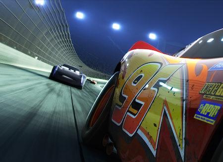 Scena iz animiranega filma Avtomobili 3.